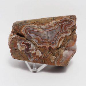 Blocky Red & White Hills Fairburn Agate