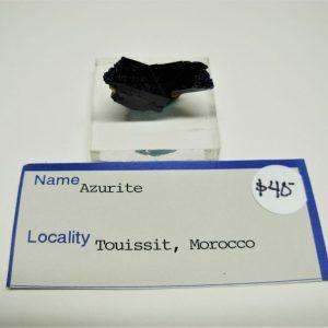 Twinned Azurite Crystal