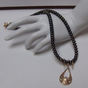 Freshwater Pearl Necklace w/Removable Whitaker's Black Hills Gold Accent