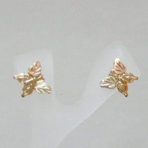 Whitaker's Black Hills Gold Butterfly Earrings