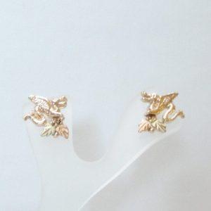 Whitaker's Black Hills Gold Dragon Earrings