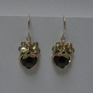 Edwards Black Jade & Black Hills Gold Earrings