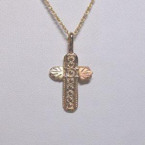 Whitaker's Black Hills Gold Circles Cross Pendant