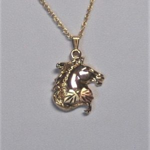Whitaker's Black Hills Gold Horse Head Pendant