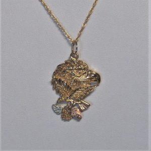 Whitaker's Black Hills Gold Double Eagle Pendant
