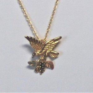 Whitaker's Black Hills Gold Flying Eagle Slide Pendant