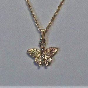 Whitaker's Black Hills Gold Butterfly Pendant