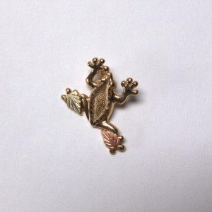 Whitaker's Black Hills Gold Jumbo Frog Slide Pendant