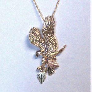 Whitaker's Black Hills Gold Jumbo Eagle Slide Pendant