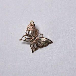 Whitaker's Black Hills Gold Lg Butterfly Slide Pendant