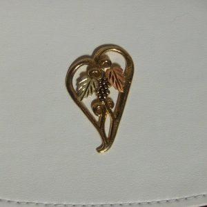Whitaker's Black Hills Gold Large Floating Heart Slide Pendant