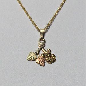 Whitaker's Black Hills Gold Rose Pendant