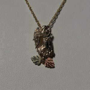 Whitaker's Black Hills Gold Praying Angel Pendant