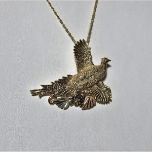 Whitaker's Black Hills Gold Ring-Neck Pheasant Slide Pendant