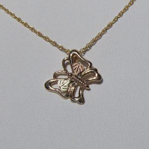 Whitaker's Black Hills Gold Flying Butterfly Pendant