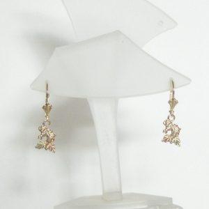 Whitaker's Black Hills Gold Petite Horse Head Lever-back Earrings
