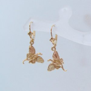 Whitaker's Black Hills Gold Fairy Dragon Dangle Earrings