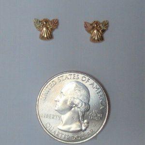Whitaker's Black Hills Gold Micro Angel Post Earrings