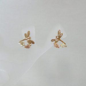 Whitaker's Black Hills Gold Dragonfly Earrings