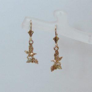 Whitaker's Black Hills Gold Mini Eagle Dangle Earrings