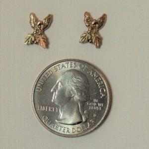 Whitaker's Black Hills Gold Eagle Earrings