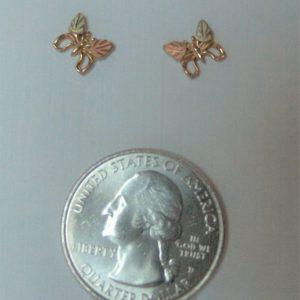 Whitaker's Black Hills Gold Mini Butterfly Earrings