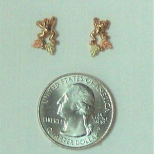 Whitaker's Black Hills Gold Petite Frog Earrings