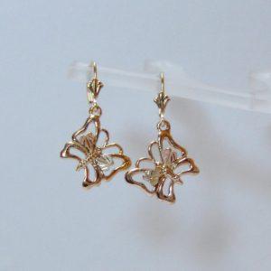 Whitaker's Black Hills Gold Flying Butterfly Earrings