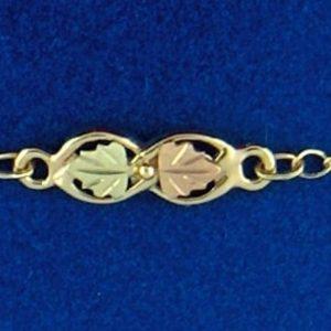 "Whitaker's Black Hills Gold 11"" Figure 8 Ankle Bracelet"