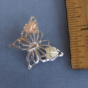 Whitaker's Black Hills Gold on Silver Butterfly Slide Pendant