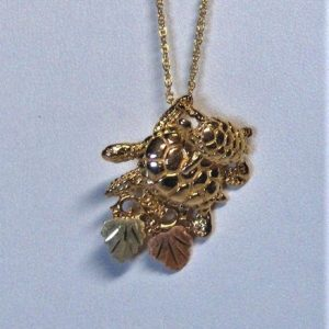 Whitaker's Black Hills Gold Sea Turtle Slide Pendant