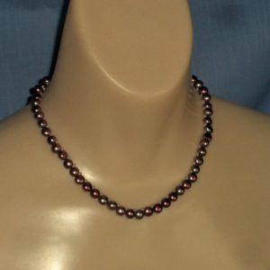Magenta Button Pearls & Rose Quartz Bead Necklace