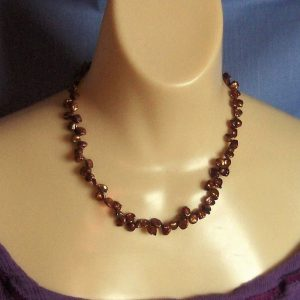 Bronze Freshwater Petal Pearl Bead Necklace