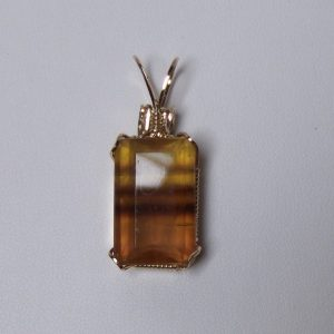 Faceted Fluorite Pendant with 14K Gold-filled Wire Wrapped Setting