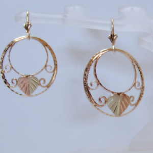Whitaker's Black Hills Gold Large Double Circle Earrings