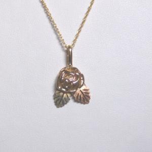 Whitaker's Black Hills Gold Yellow Rose Pendant
