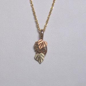 Whitaker's Black Hills Gold Grapes & Heart Leaves Pendant