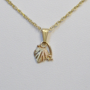 Whitaker's Black Hills Gold Micro Leaf Pendant