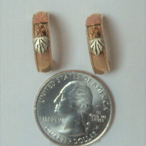 Whitaker's Black Hills Gold 1/2 Hoop Earrings