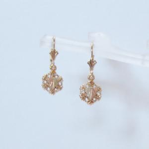 Whitaker's Black Hills Gold Mini Snowflake Earrings