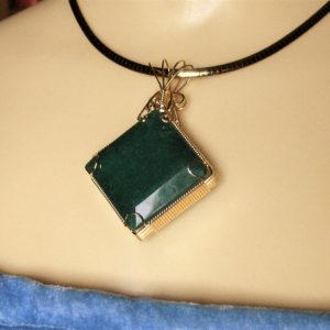 Huge 178ct Genuine Emerald Pendant with a 14K Gold-filled Wire Wrapped Setting
