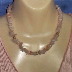 Morganite Chip & Stardust Bead Necklace