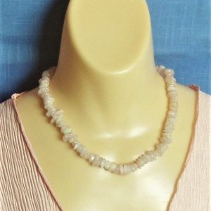 Morganite Chip Bead Necklace with a Gold-filled Toggle Clasp