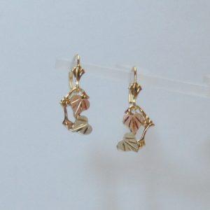 Whitaker's Black Hills Gold Hearts Dangle Earrings