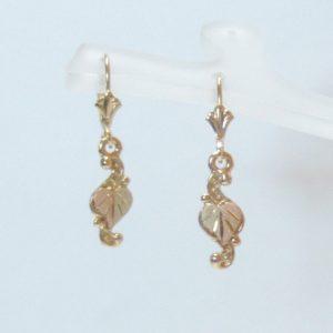 Whitaker's Black Hills Gold Inverted Heart Earrings