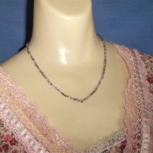 Blue Iolite Bead Necklace