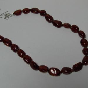 Natural Orange Spessertite Garnet Necklace