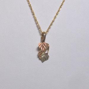 Whitaker's Black Hills Gold Leaves & Grapes Pendant