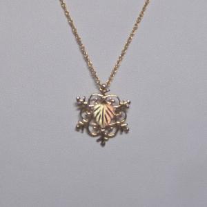 Whitaker's Black Hills Gold Large Snowflake Pendant