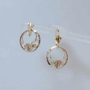 Whitaker's Black Hills Gold Small Double Circle Earrings